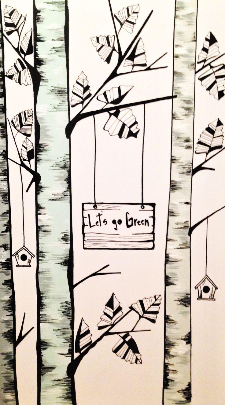 Birch Trees Illustration