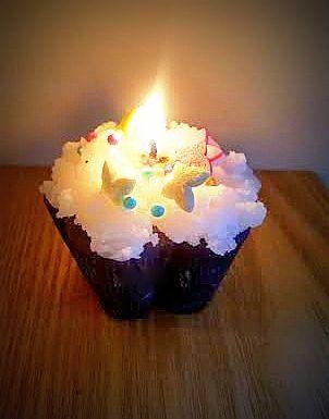 Cupcake candel by Majsterki #DIY