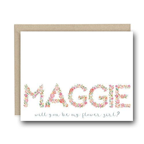 Personalized Greeting Card - Will You Be My Flower Girl - Wedding Proposal Cards, Wedding Day Cards, On My Wedding day, Wedding Notecards, Wedding Stationary, Ask Cards, Personalized Card, Flower Girl