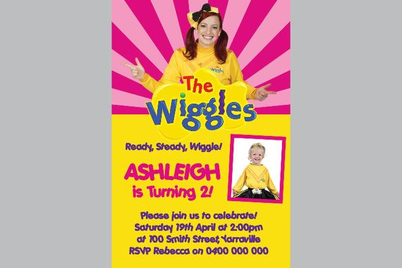 Personalized The Wiggles Invitations Personalised by InvitesByBec