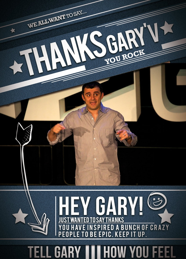 Let's Thank Gary V - this is great, Gary V is awesome!