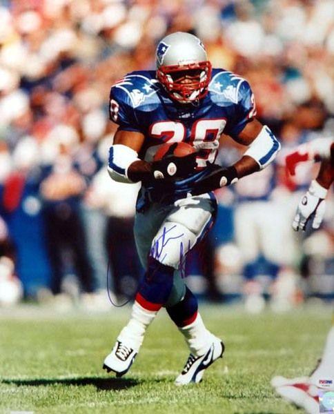 Curtis Martin Autographed 16x20 Photo Patriots PSA/DNA
