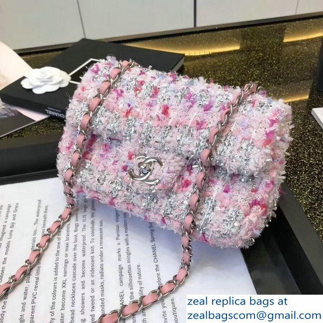 8be6d448a84f Chanel Tweed Sequins Small Flap Bag Pink 2018 | Inspo in 2019 | Bags ...