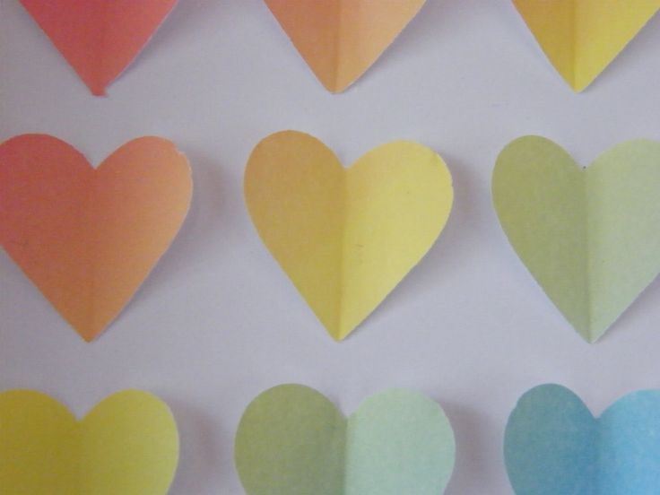 Image of Hearts - Small - Rainbow Confetti