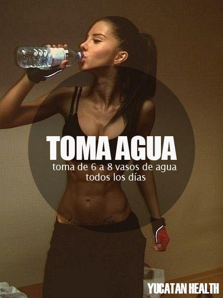 ¡Hidrátate! ;) #agua #vidasana