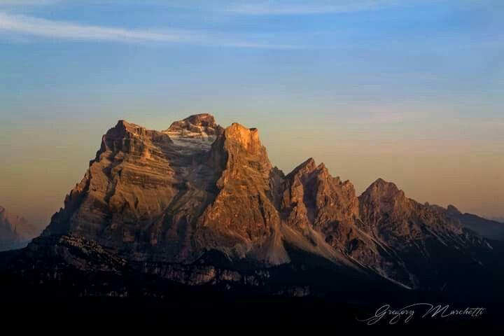 Enrosadira sulle Dolomiti Ampezzane