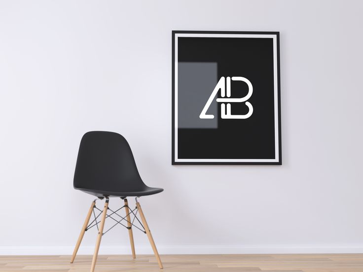 Today's freebie is a Poster Frame PSD Mockup created by Anthony Boyd Graphics. This scene features a large poster frame next to a modern chair. Use this modern minimal poster mockup scene to showcase your paintings, movie posters, or any branding work you might have.  This scene was created in Cinema 4D and rendered using Thea Render.