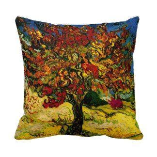 Van Gogh Mulberry Tree (F637) Fine Art Throw Pillow