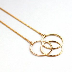 collier or necklace gold circles 24 carats