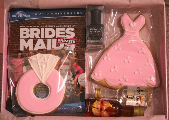 """Be My Bridesmaid"" box!  OMG legit want to do this!! Include the nail polish you want them to wear and a few fun things :)"