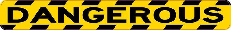 StickerTalk® Brand 10in x 1.25in Dangerous Caution Warning Magnet Magnetic Sign