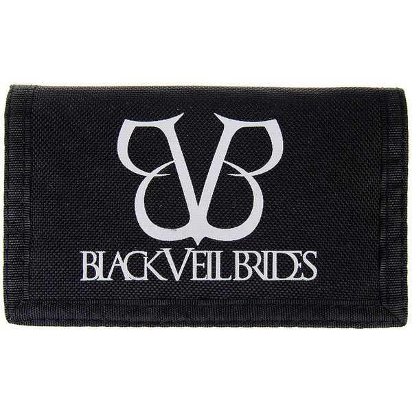 Black Veil Brides Logo Wallet (Black) (52 PLN) ❤ liked on Polyvore featuring bags, wallets, black veil brides, bvb, logo bags, bride bag and bridal bags