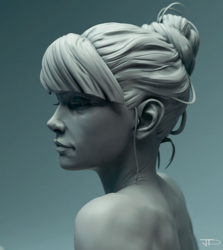 Girl Study Portrait, Julien Desroy on ArtStation at https://www.artstation.com/artwork/2k46B