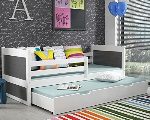 lit gigogne rico 2 en pin blanc 160x80 avec 2 sommiers 2 matelas livraison gratuite amazon. Black Bedroom Furniture Sets. Home Design Ideas