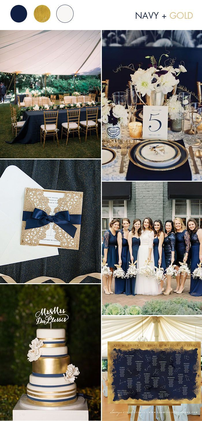 wedding ideas: silver & gold invitations from elegant