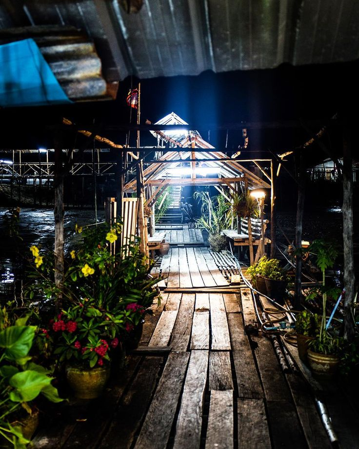 When you find the entrance to a hidden floating restaurant in the jungle Thailand