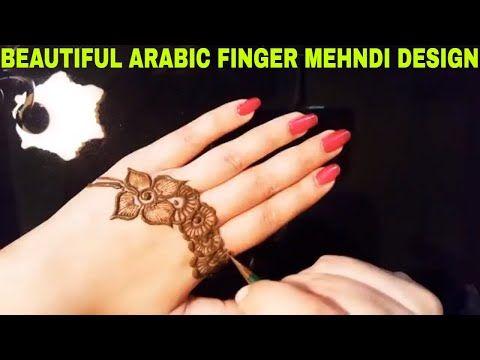 Beautiful Arabic Finger Mehndi Design Tutorial || Easy Simple Arabic Mehndi Design - YouTube