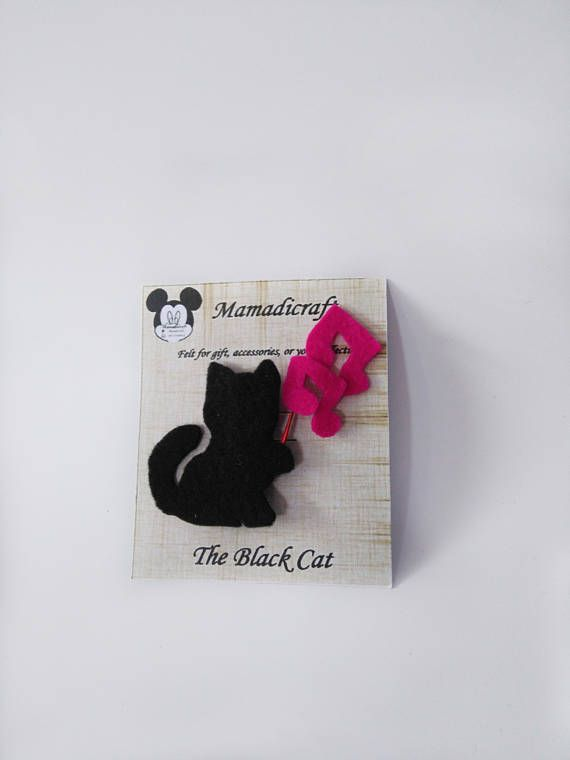 Hey, I found this really awesome Etsy listing at https://www.etsy.com/listing/545673423/brooches-or-pin-black-cat-music-for