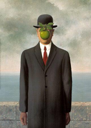man met appel schilderij - Google zoeken
