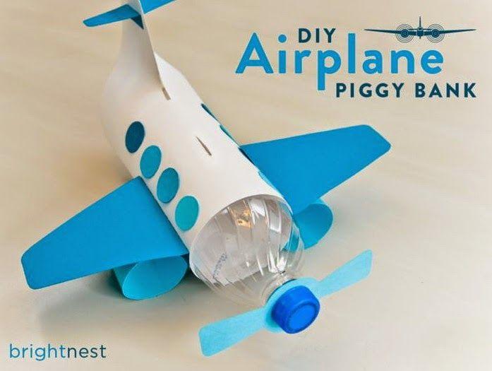EL MUNDO DEL RECICLAJE: DIY avión con una botella de plástico