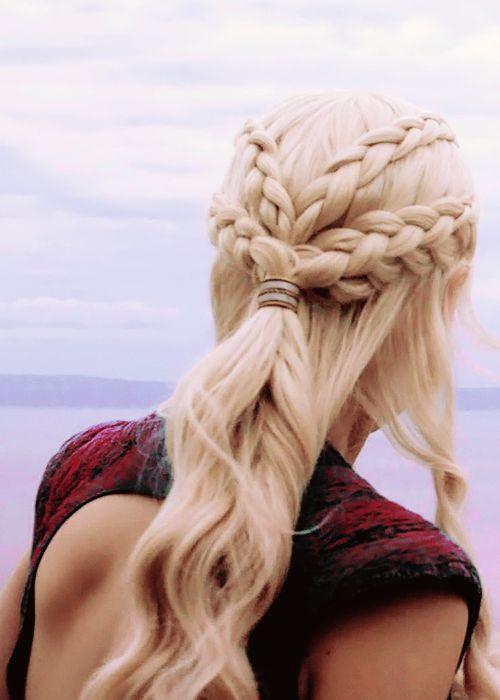 Tumblr Khaleesi Hair Daenerys Hair Medieval Hairstyles