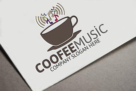 Coffee Music Logo by Josuf Media on @creativemarket