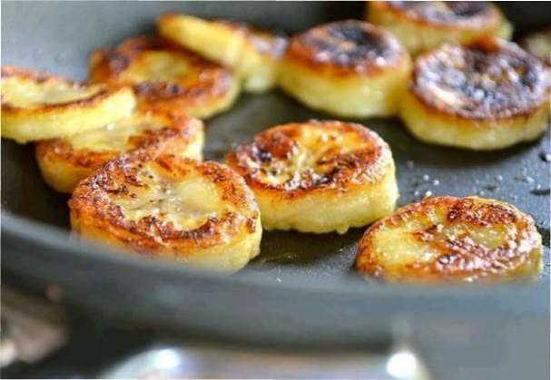 """FRIED"" HONEY BANANAS... Recipe Desserts with bananas, honey, cinnamon, olive oil"