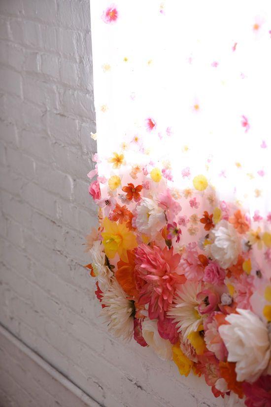 diy floral curtains   designlovefest