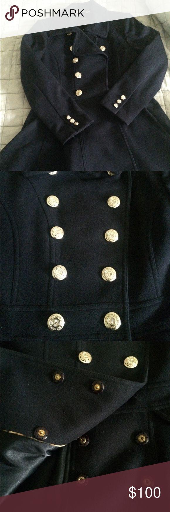 Selling this Navy Princess Peacoat, Laundry by Shelli Segal on Poshmark! My username is: leighnico. #shopmycloset #poshmark #fashion #shopping #style #forsale #shelli segal #Jackets & Blazers