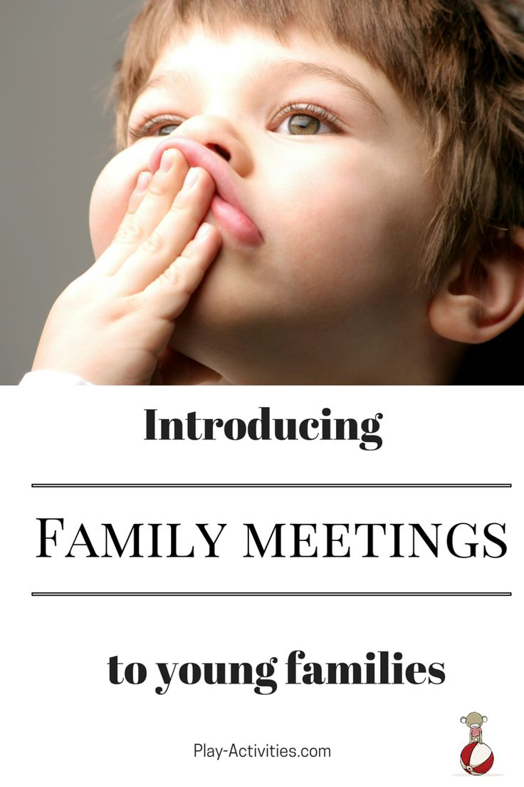 Get started with family meetings even when you have a young family. Here's how | Play-Activities.com