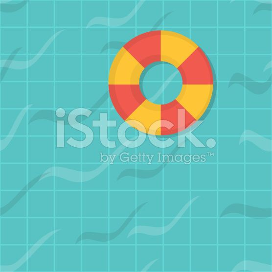 seamless pattern swimming pool. Top view. Flat design. royalty-free stock vector art