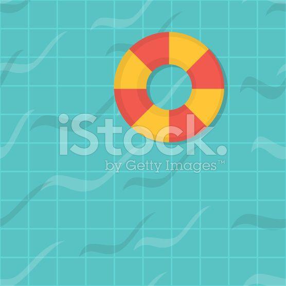 seamless pattern swimming pool. Top view. Flat design. royalty-free stock vector art