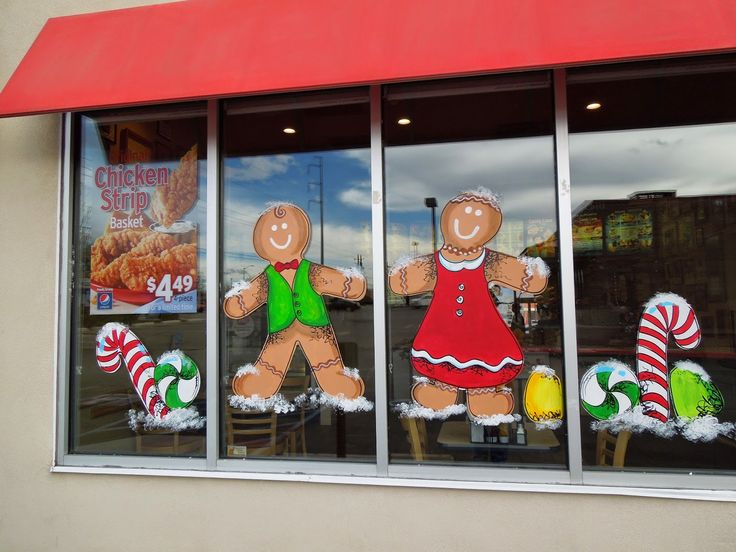 33 best Christmas window painting images on Pinterest Christmas