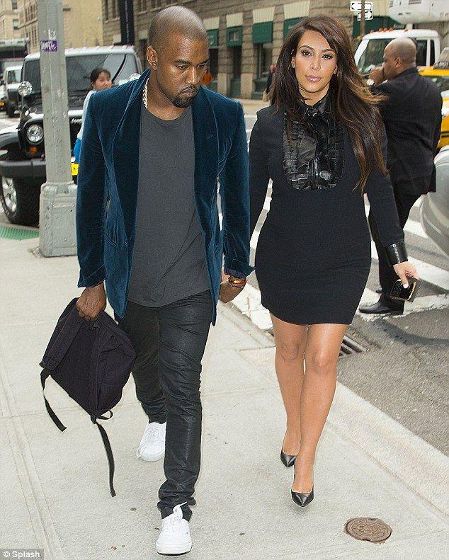 Kim Kardashian and Kaye West in Paris, France