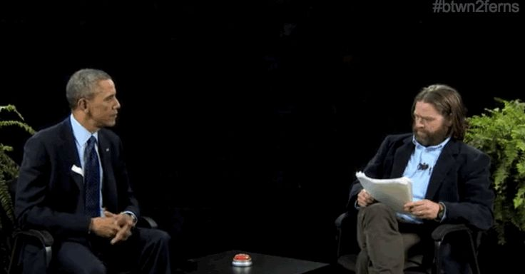 "This happened at the end. | President Obama Appears On ""Between Two Ferns"""