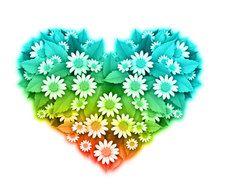 Business - Flower Heart Shape