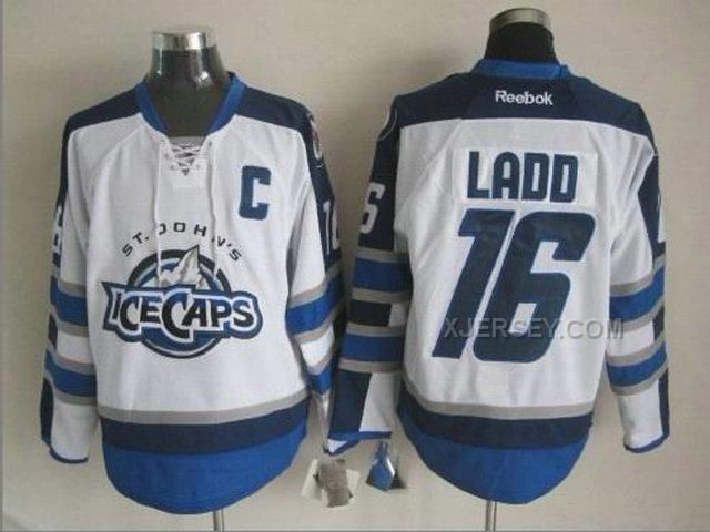 http://www.xjersey.com/ice-caps-16-ladd-white-with-c-patch-jerseys.html ICE CAPS 16 LADD WHITE WITH C PATCH JERSEYS Only $46.00 , Free Shipping!