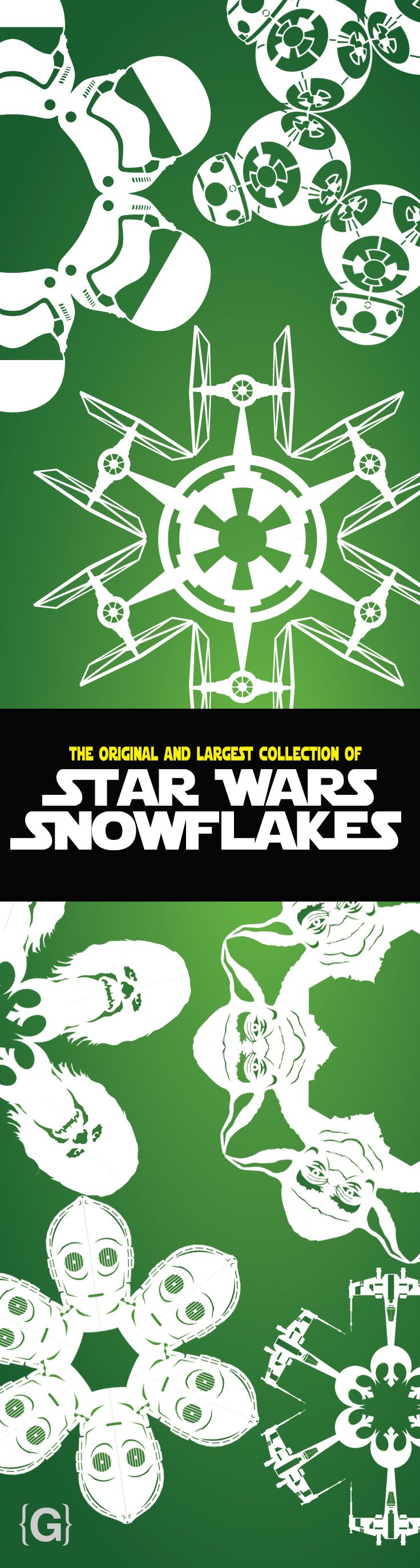 the original and largest collection of star wars snowflakes. Download the DIY paper templates today