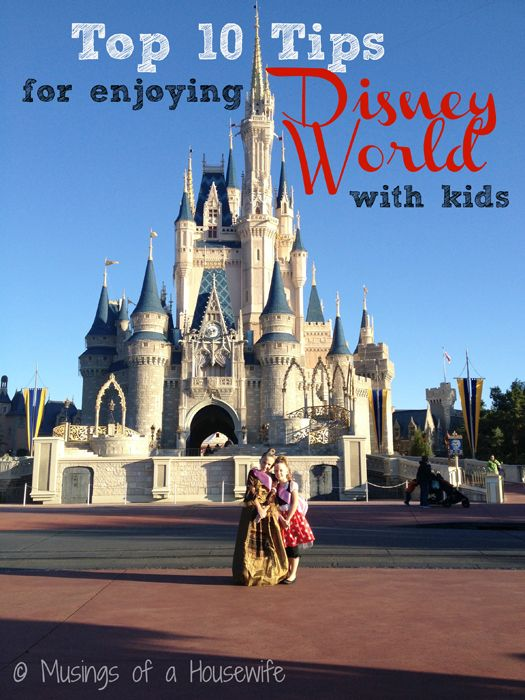 10 Tips for Enjoying Disney World with Kids via @Jo-Lynne Shane www.musingsofahousewife.com #disney #familytravel