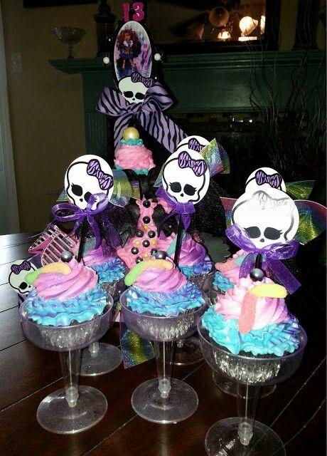 Monster High Cup-Cakes. aleishadavisdesigns.blogspot.com