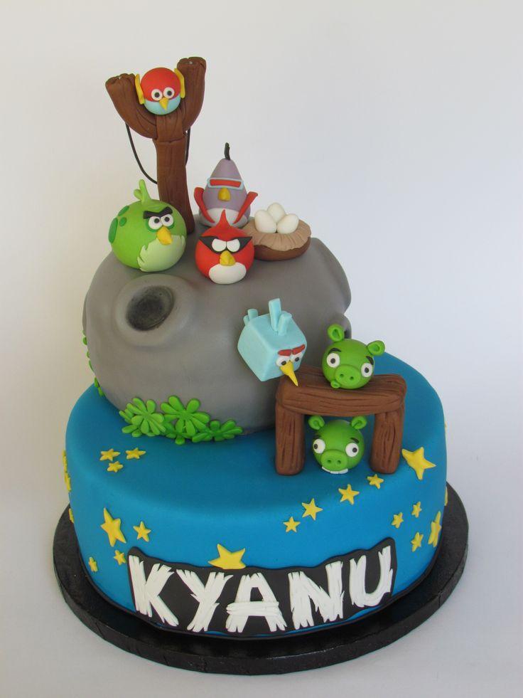 Angry birds birthday cake by Liesjes Lekkernijen