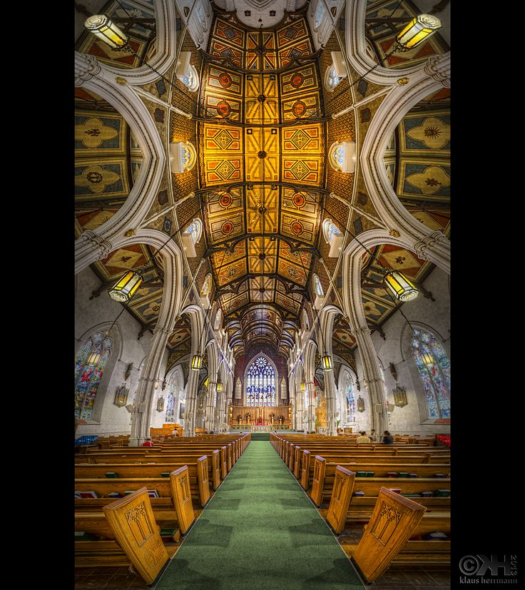 HDR VErtorama of the interior of the Chinese church in Toronto. Created from 12 hand-held exposures.