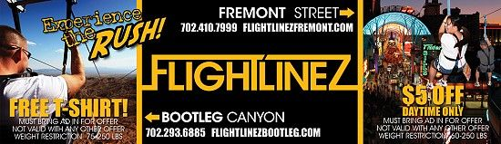 Flightlinez discount coupon for $5 off admission at Fremont Street Facility and Free Gopro Helmet Cam Rental at the Bootleg Canyon Facility