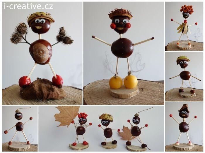 chestnut figures - kaštánkové postavičky