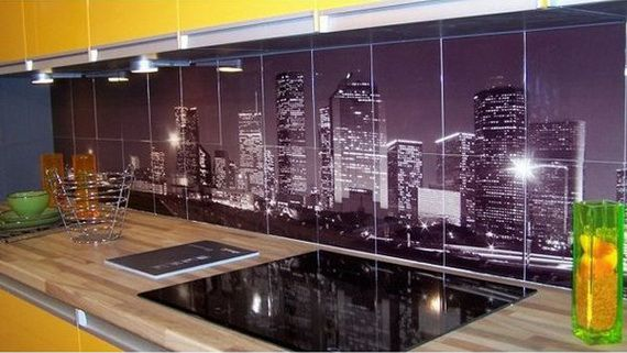 Urban Kitchen Backsplash Decorating Style I JUST THOUGHT THIS WAS REALLY REALLY COOL!!