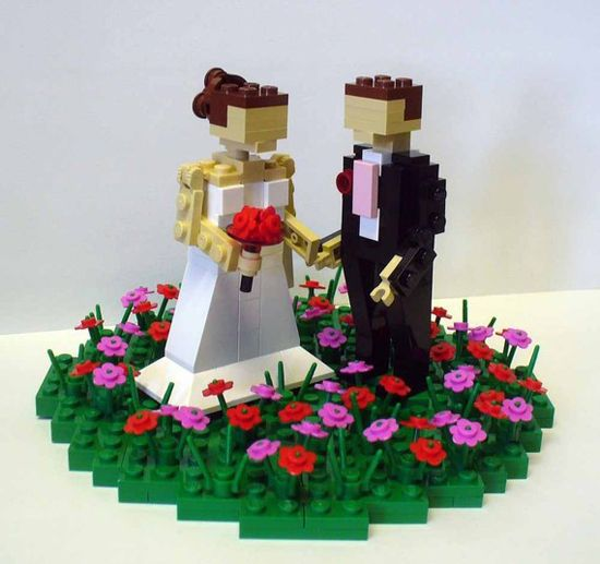 Lego cake topper.