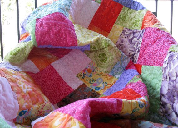 Twin Size Beautiful 65 square Fruit Salad by JuliesCraftCottage, $240.00