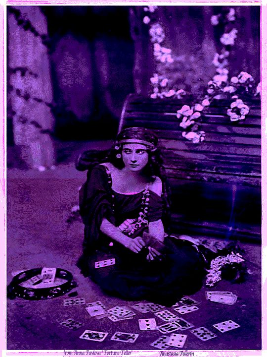 From an early 20th Century portrait of ballerina Anna Pavlova             'The Fortune Teller'                           ...