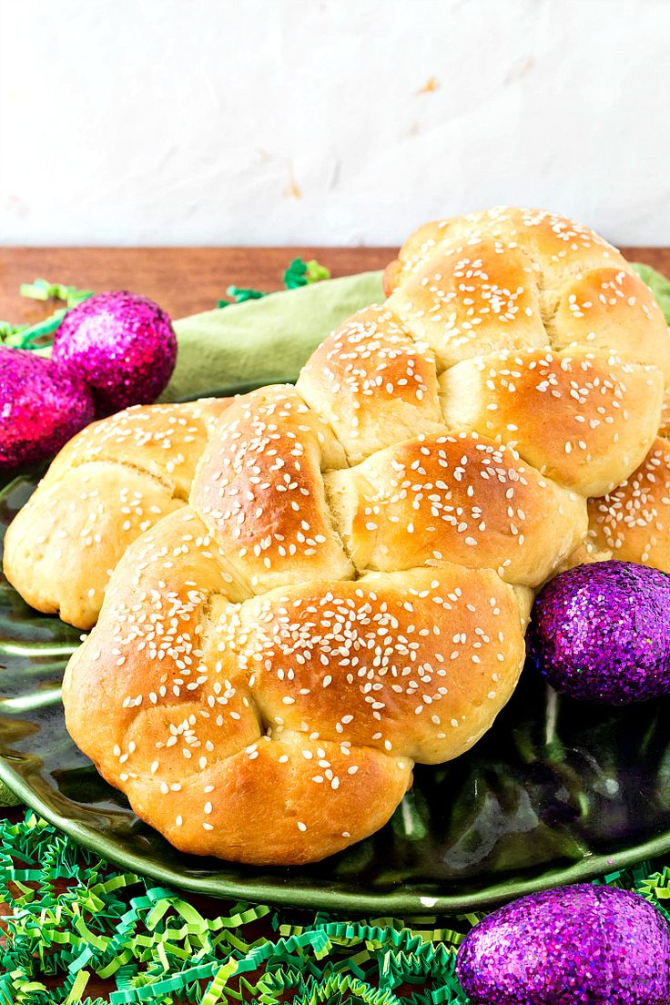 Armenian Easter Bread, or braided choereg, is a cake-like sweet bread perfumed with the Mediterranean spice mahleb as well as anise or fennel. The perfect Easter loaf. To be super traditional, tuck a red-dyed egg or two in the braids! | pastrychefonline.com
