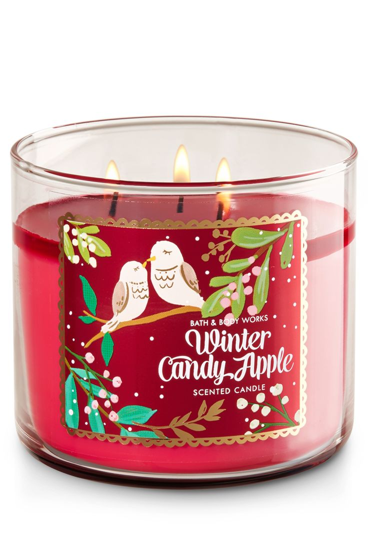 Home home decoration candles amp candle holders scented candles - Winter Candy Apple 3 Wick Candle Home Fragrance 1037181 Bath Body Worksred